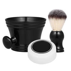 3 шт., Мужская щетка для бороды, набор инструментов для бритья, набор для влажного бритья, Парикмахерская щетка для бритья, кружка, чаша