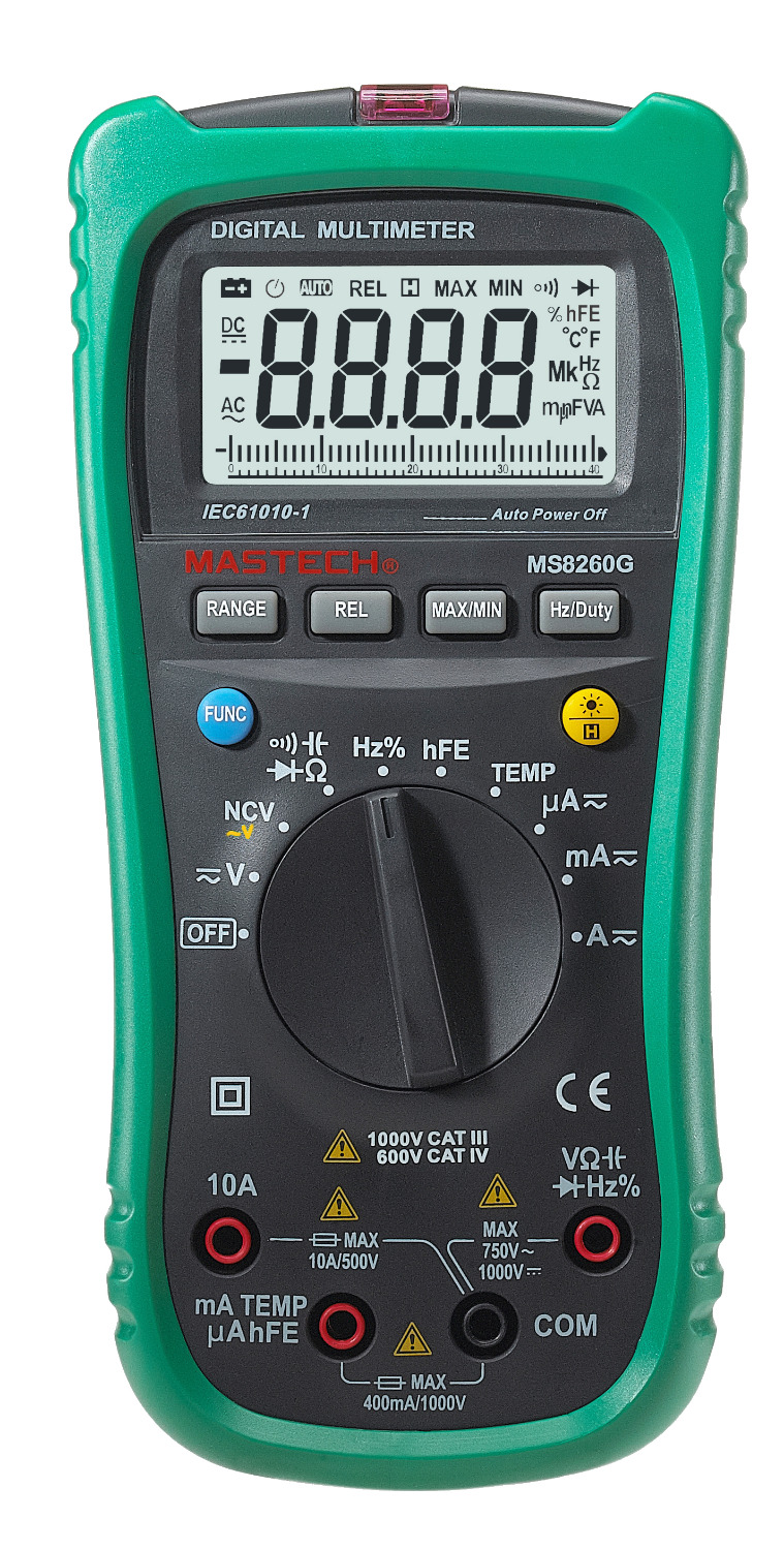 MASTECH MS8260G Multifunctional Digital multimeter Resistance Capacitance Frequency Temperature Diode Continuity Tester my68 handheld auto range digital multimeter dmm w capacitance frequency