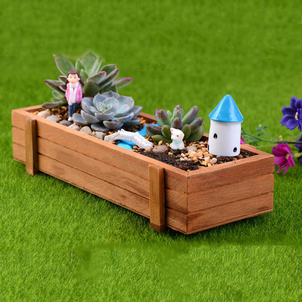 Us 417 25 Offwood Succulent Plant Pots Vintage Wood Gardening Tubs Home Decor Woody Meaty Wooden Boxes In Flower Pots Planters From Home