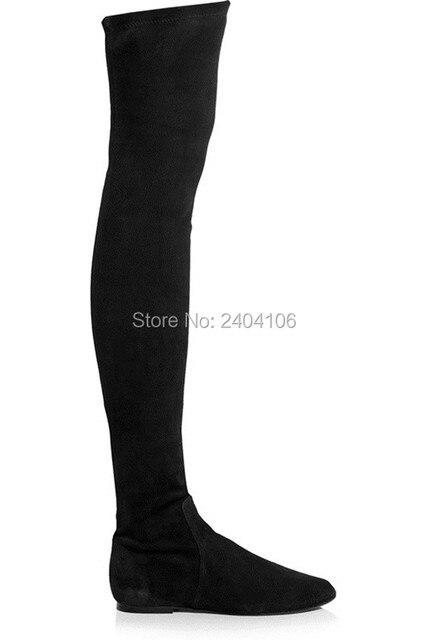 Fashion Bottes Cuissardes femme talon 3cm Sexy pas cher hiver Boutique chaussures confortables® OXPTf6A