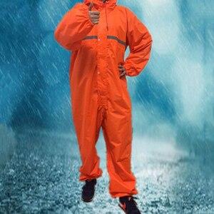 Image 2 - 1PCS Waterproof Windproof Conjoined Raincoats Overalls Electric Motorcycle Fashion Raincoat Men And Women  Rain Suit Rainwear