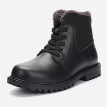 Size 38~47 men Winter snow boots leather cowboy handmade warm fashion winter shoes #1868