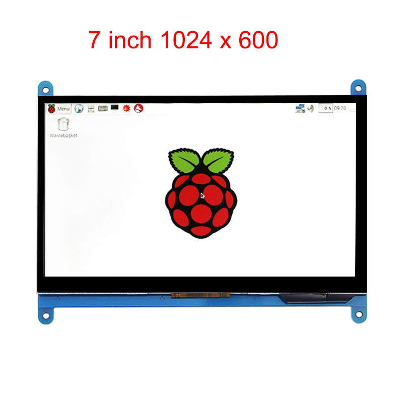 7 Inch Raspberry Pi 3 Touch Screen 1024 * 600 LCD Display HDMI Interface TFT Monitor Module Compatible Raspberry Pi 2 Model B wareshare replacement 4 lcd touch screen module for raspberry pi model b b blue