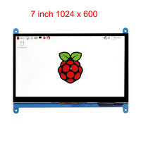 7 Inch Raspberry Pi 3 B+ Touch Screen 1024 * 600 LCD Display HDMI Interface TFT Monitor Module Compatible Raspberry Pi 2 Model B