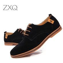 2018 fashion men casual shoes new spring men flats lace up male suede oxfords men leather shoes zapatillas hombre size 38-48