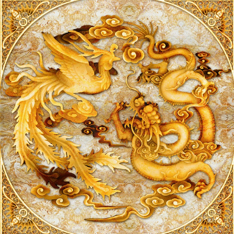 Us 1031 30 Offphoto Wallpaper Custom Chinese Dragon Phoenix Hd Mural Living Room Hotel Office Hall Ceiling Wallpaper In Wallpapers From Home