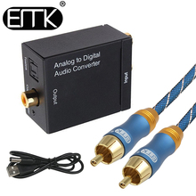 ЭМК аналого-цифровой аудио конвертер L/R RCA для коаксиального Оптический Toslink выход SPDIF конвертер адаптер для ТВ xbox 360 dvd
