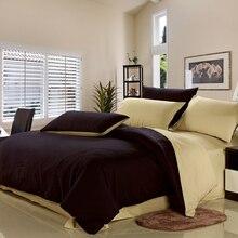 טקסטיל ביתי מודרני, כותנה שייף 100% כותנה לארוג סט כיסוי שמיכת סדינים דפוס מוצק