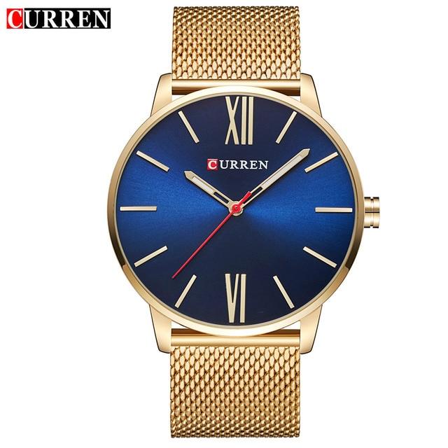 CURREN Men's Top Brand Luxury Waterproof Stainless Steel Quartz Watches 2