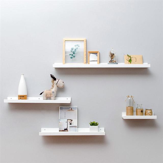 52909ec2acc0 Bamboo Wall Shelf Floating Ledge Storage Wall Shelves Rack Wall Art for Home  Decor