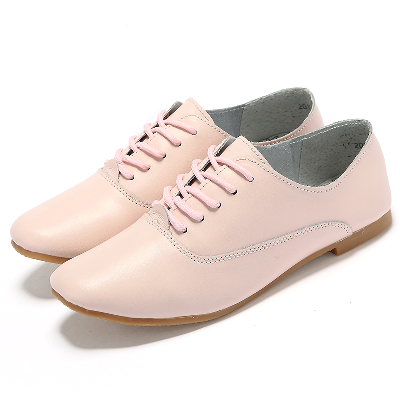 2015 genuine leather shoes plus size 43 44 lace up