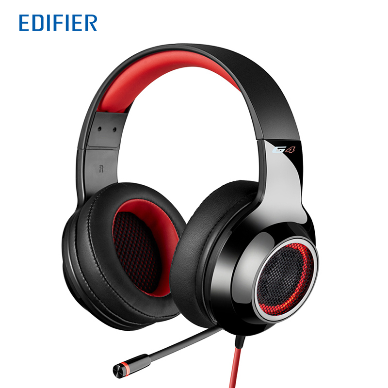 Edifier G4 Gaming Headphone 7.1 virtual surround sound Game headset Vibrating effects Retractable Microphone Robust PVC cable edifier g20 game headphone 7 1 virtual surround sound gaming headset with rotatable unidirectional microphone usb game headset