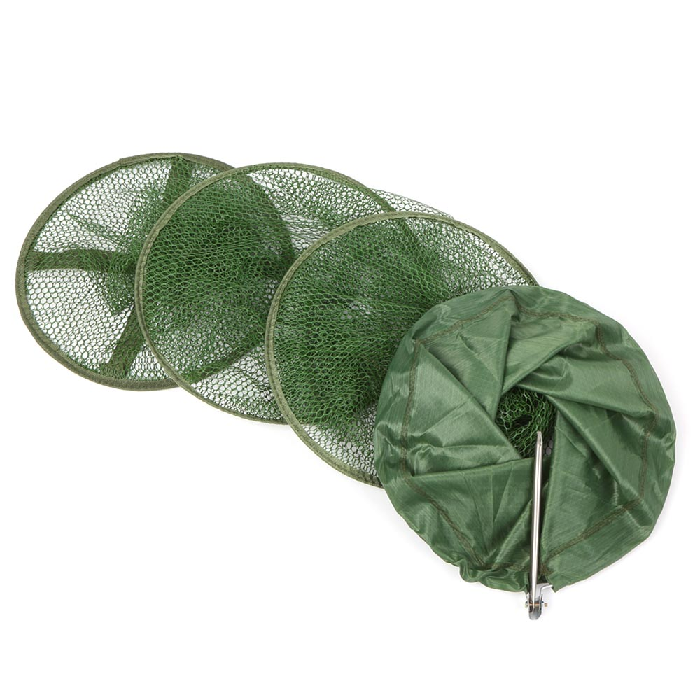 Portable Fishing Net Cage Collapsible Mesh Fish Trap Fishing Basket for Keeping Fishes/Smelt/Minnows/Crab/Shrimps/Lobsters