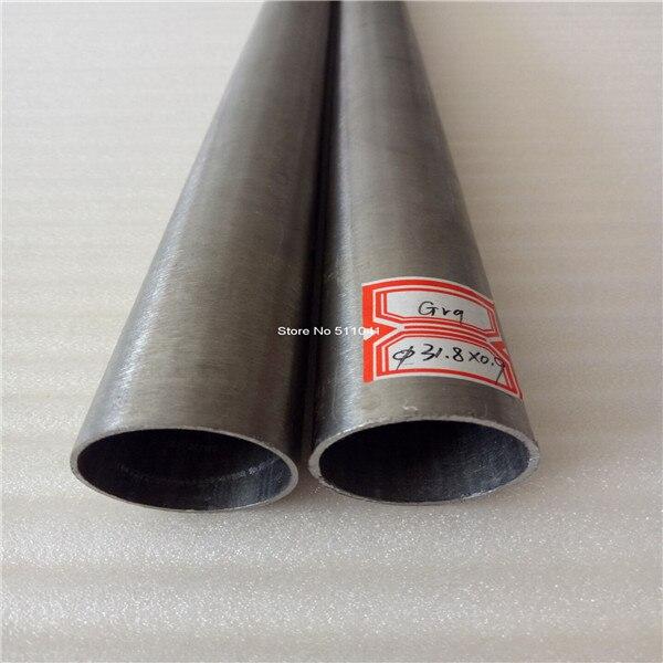 Grade9 titane tube gr9 titane tuyau 31.8mm * 0.9mm * 500mm, 6 pièces prix de gros livraison gratuite