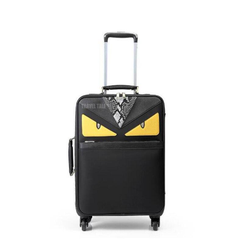 """Bagaj ve Çantalar'ten Tekerlekli Bagaj'de SEYAHAT MASALı 20 """"24"""" inç kadın canavar bavul spinner deri bagaj tekerlekli çanta seyahat için'da  Grup 1"""
