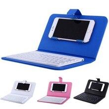 Tragbare PU Leder Drahtlose Tastatur Fall für iPhone Schutzhülle Handy mit Bluetooth Tastatur Für IPhone 6 7 Smartphone