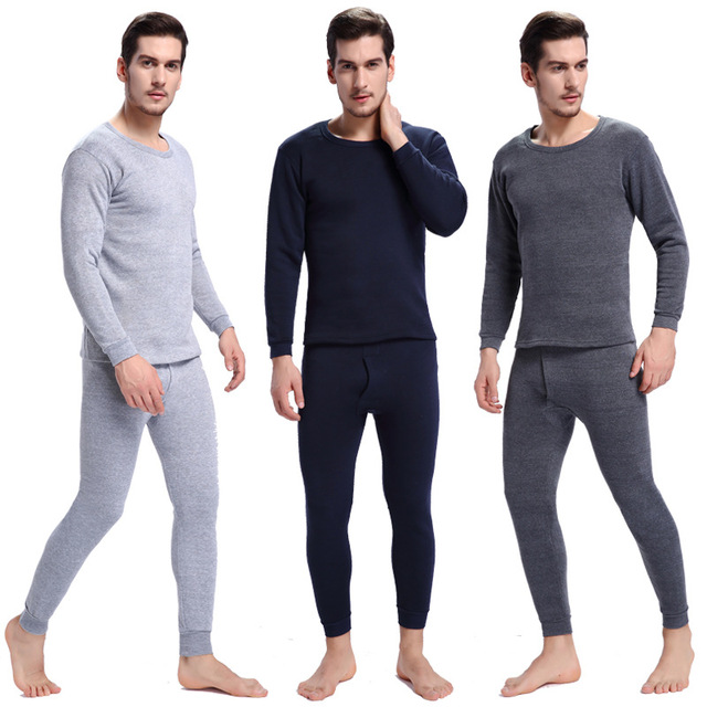 9c2e42485a6a Hot Pajamas Winter Warm Thermal Underwear Mens Long Johns Sexy Black  Thermal Underwear Sets Thick Plus Velet Long Johns HO931703
