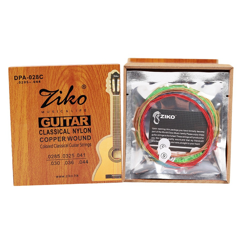 Ziko Dpa-028C Professional Classical Guitar Strings 0285-044 Colorful Nylon Coated C Wound 1
