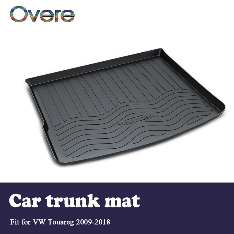 Overe 1Set Car Cargo rear trunk mat For VW Touareg 2009 2010 2011 2012 2013 2014 2015 2016 2017 2018 Styling mat Accessories car black rear trunk cargo cover security shield for volkswagon vw tiguan 2010 2011 2012 2013 2014 2015 car styling