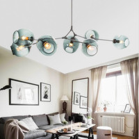 Nordic Art LED Lindsey Adelman Chandelier Kitchen Magic Beans Tree Branch Suspension Hanging Light Fixtures Free Shipping