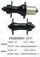 Powerway CT11 Hub Center Lock Aluminum J bend Front Hub Weight 428g For Cyclocross Or Gravel Bike Wheel