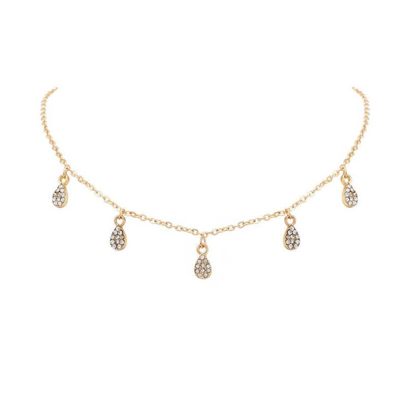 Nowy naszyjnik popularna biżuteria śliczny pełny spadek naszyjnik moda osobowość gorąca sprzedaż złoty damski naszyjnik hurt