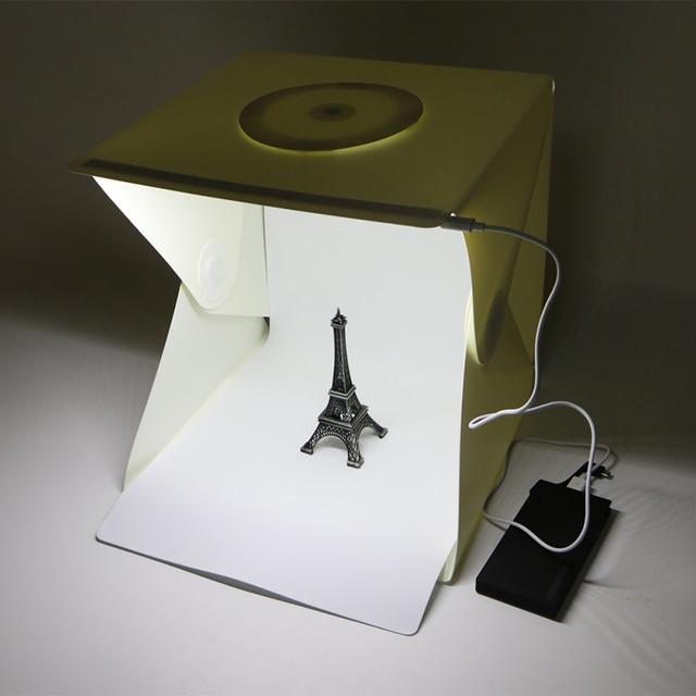12  Light Room Photo Studio Photography Lighting Tent Kit Backdrop Cubic Mini Box & 12