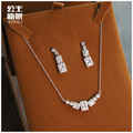 The New South Korea zircon clavicular Necklace Set beautiful bride dress wedding banquet all-match simple Korean jewelry