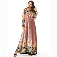 2019 Turkish traditional dress muslim women kaftan national maxi abaya Islamic Muslim Middle Eastern Long Dress A426