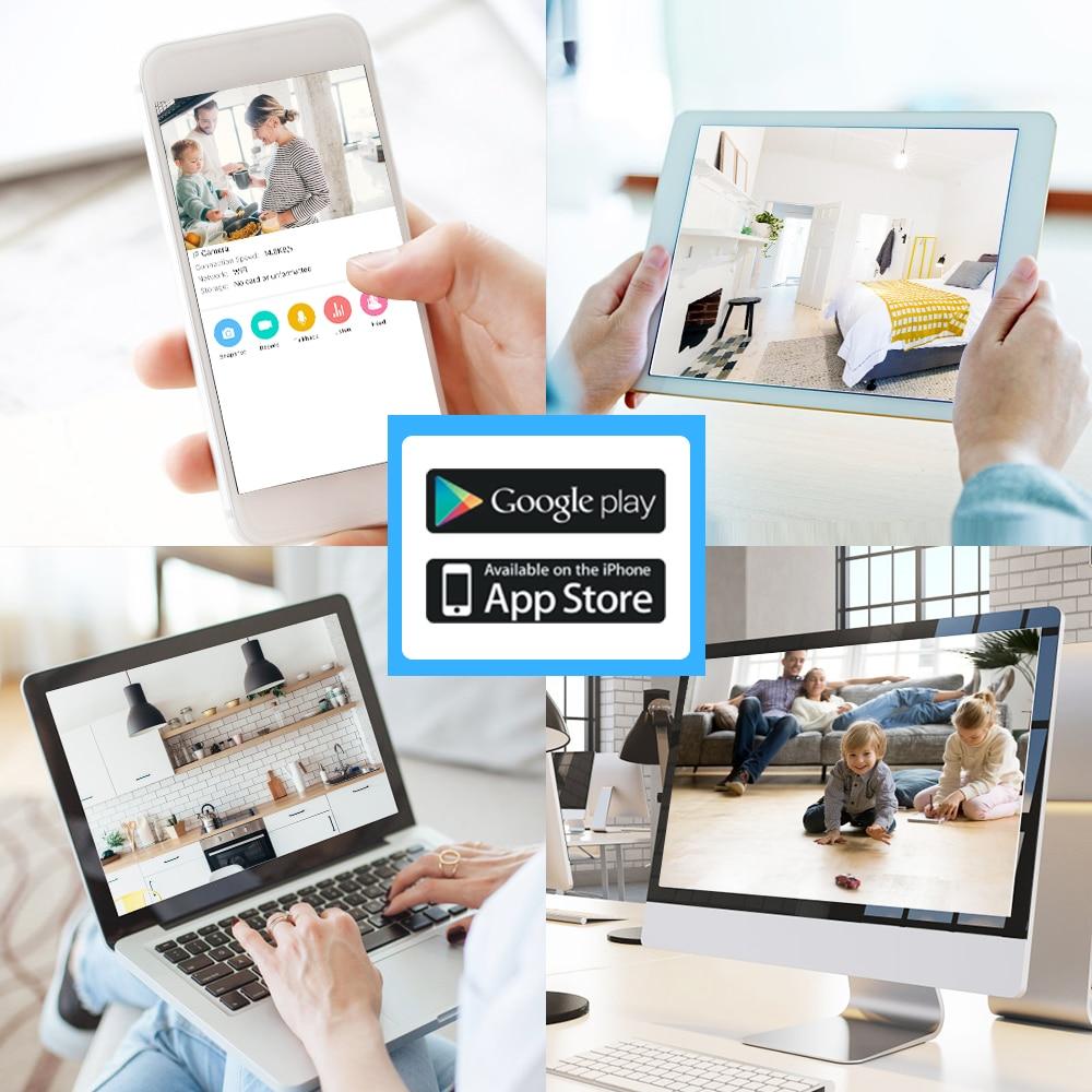 Mini moniteur vidéo sans fil bébé 3MP HD Vision nocturne Wi-Fi caméra de sécurité à domicile Surveillance de téléphone bébé caméra Wifi 2 voies Audio - 6