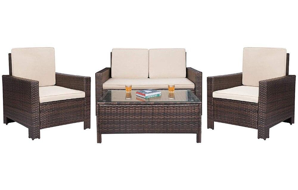 Wicker Outdoor Sofa Set Rattan