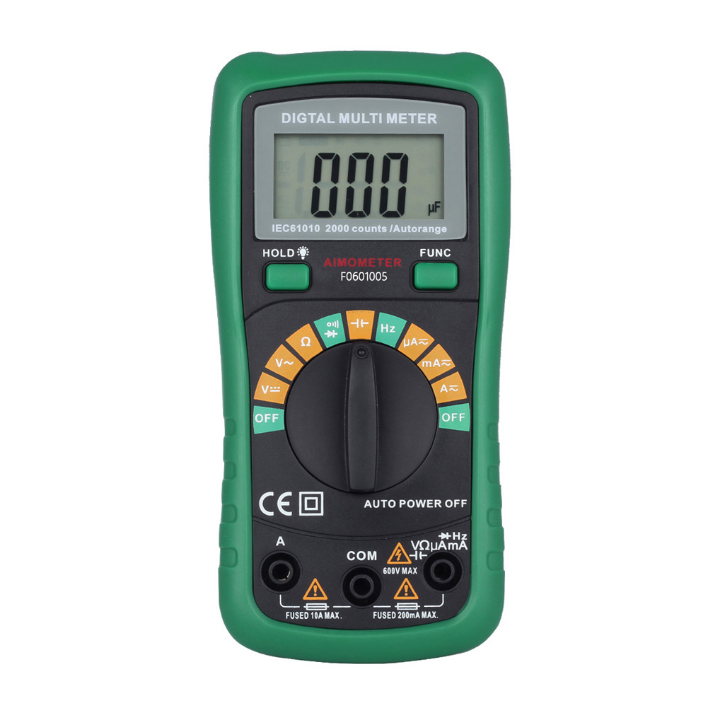 LCD Digital Auto Range Multimeter AC/DC Voltmeter Ammeter Tester Backlight Electrical Multimetro Ammeter with Temperature Test ut118b mini multimeter excellent pen measuring electrical induction genuine universal backlight