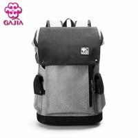 GAJIA 2017 Canvas Men S Backpack Bag Brand 14 1Inch Laptop Notebook Mochila For Men Waterproof