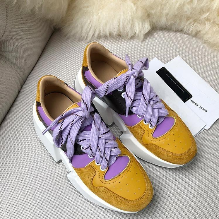 Zapatos Las Primavera as Gruesa Mezclado Plataforma Csaual Mujer Mujeres Pic Zapatillas Chaussures As De Otoño Cuero Color Pic Suela XqHpS