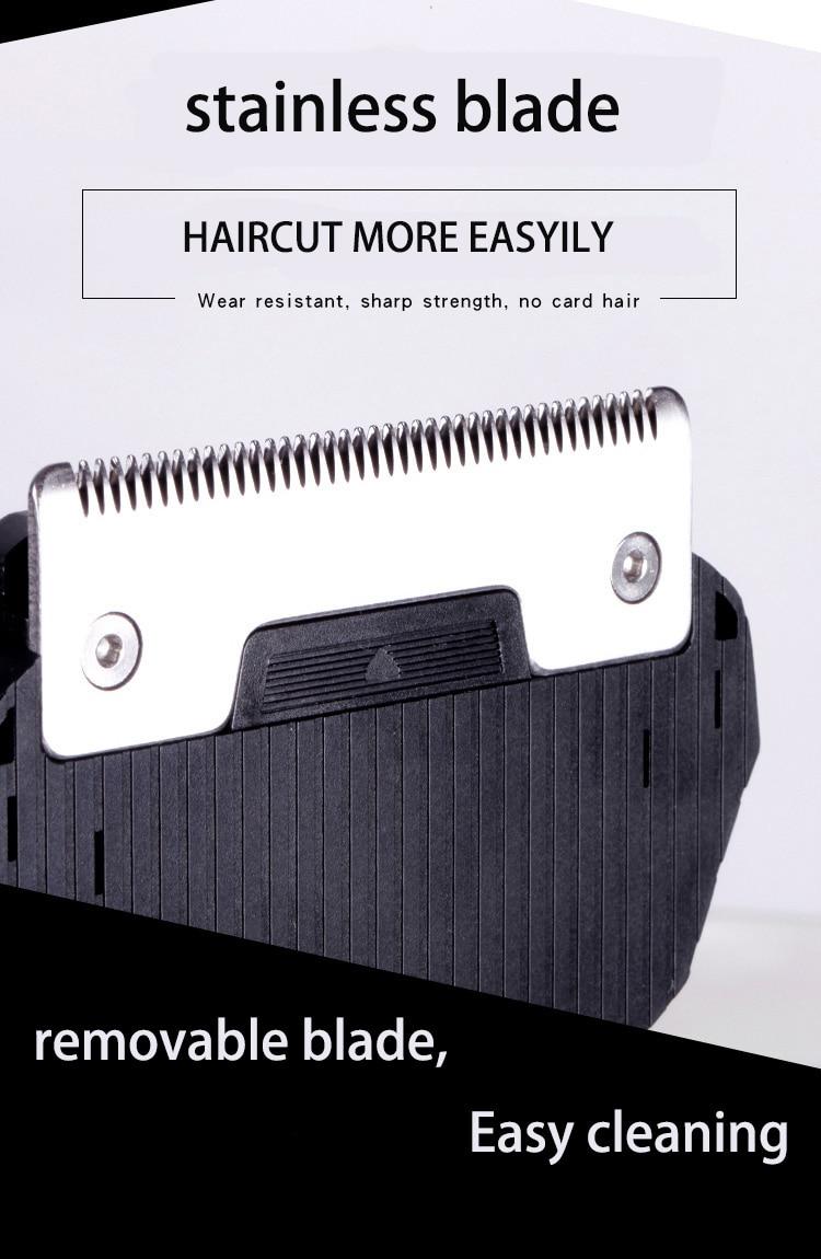 Kemei máquina de cortar cabelo 0mm homens
