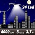 Todo en un solar LED luces de la calle de Ángulo Ajustable 24 400LM led sensor de luz al aire libre del jardín del led lámpara solar a prueba de agua powered