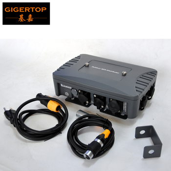 Gigertop TP-D1363 Wasserdichte 6 Weg DMX Spliter mit Seestronic Wasserdichte Power DMX Kabel mit Stecker Gute Qualität