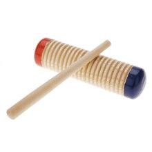 Горячая Деревянный Погремушка гуиро детей, дети, ребенок ранняя развивающая музыкальная игрушка инструмент перкуссия с молотком