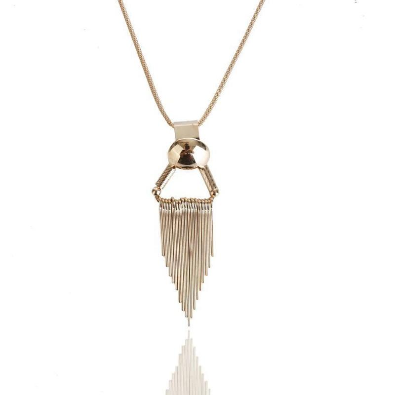 Boho fashion choker necklace temperament tassel necklace women chocker sweater chain necklaces & pendants christmas gifts
