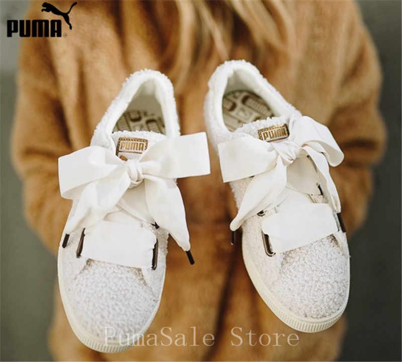 7972795462a5 PUMA Basket Heart Teddy Women Sneaker 367030-02-01 Women Badminton Shoes  Lightweight Bow