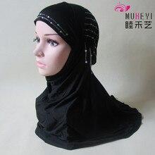 2017 Plain Hijabs Scarf Women Muslim Islamic Scarves New Direct Selling Adult Plain Rayon Hijab Inner Cap Turban Collocation