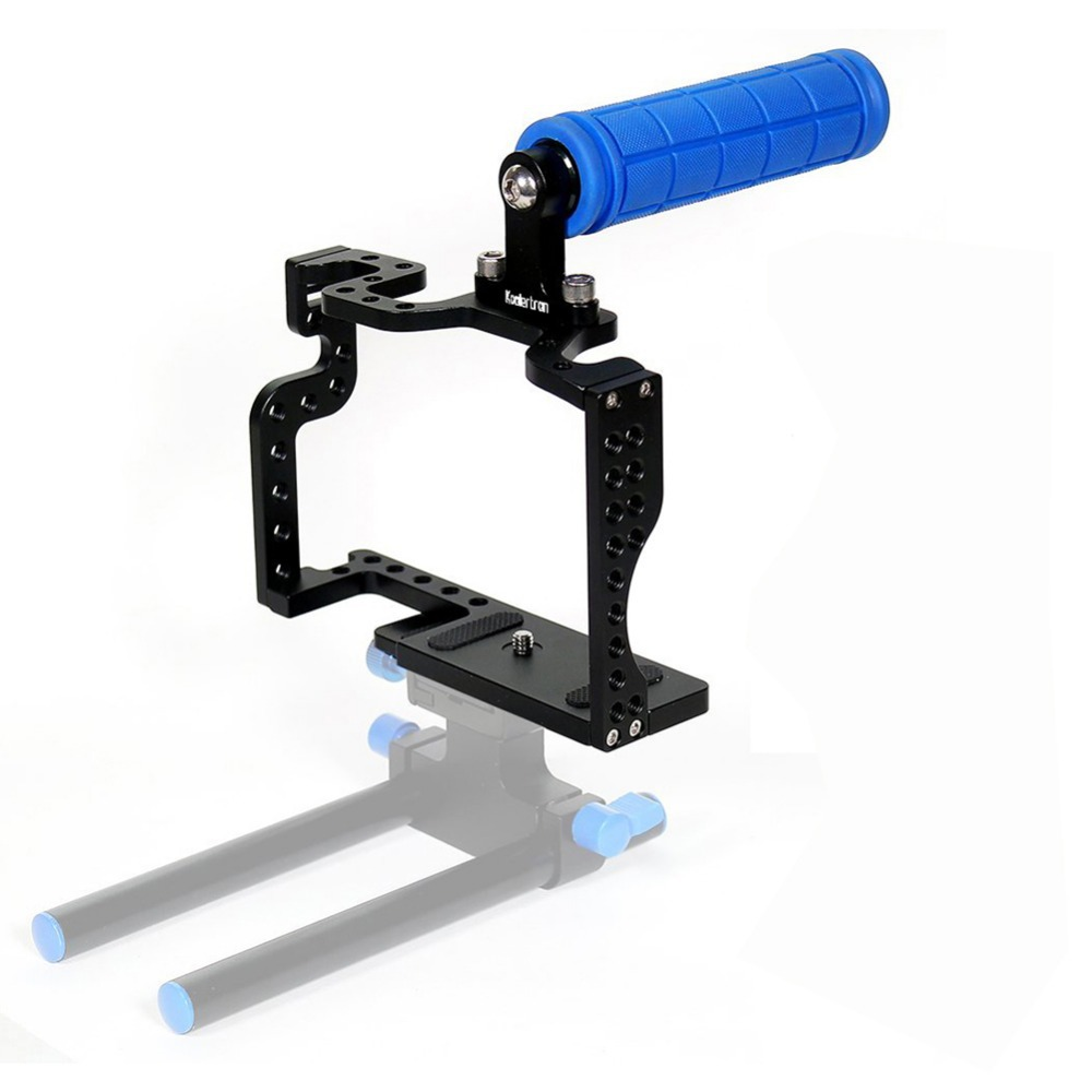 ФОТО Koolertron DSLR Camera Cage With Top Handle Grip For Panasonic Lumix GH3 GH4 Camera Rig