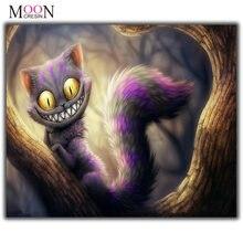 Mooncresin алмазная живопись вышивка крестиком фиолетовый большой