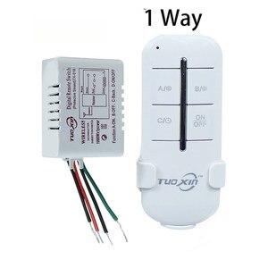 Image 2 - Interruttore telecomando Wireless ON/OFF 220V lampada lampada trasmettitore ricevitore interruttore remoto a parete Wireless digitale per lampada a LED