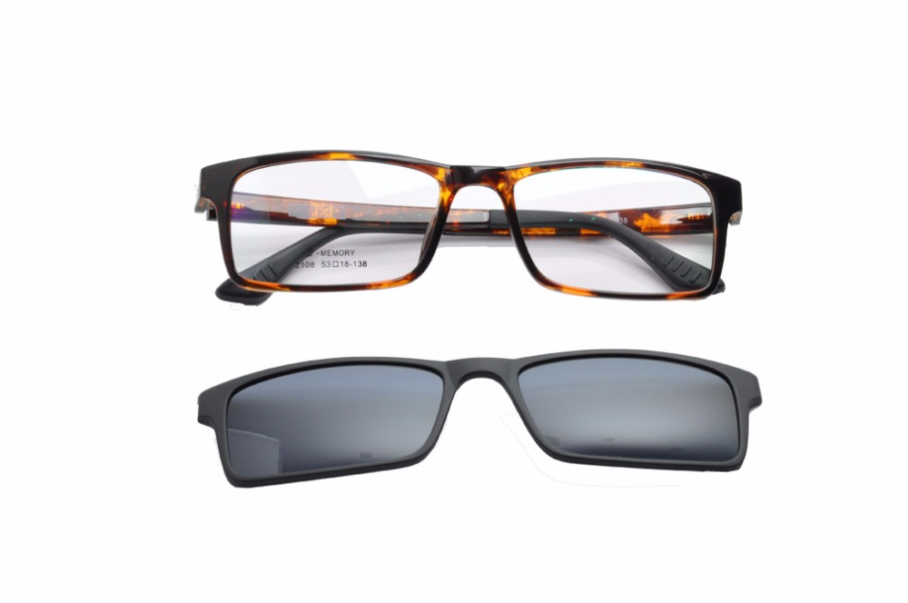 EV Fashion Glasses With Magnetic Clip On Sunglasses