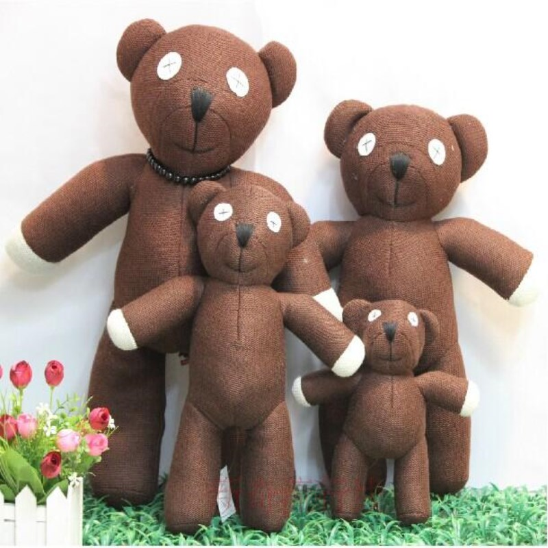 2018 Free shipping Hot Sale 23cm Height Mr Bean Teddy Bear Animal Stuffed Plush Toy For Children Gift Brown Color Christmas Gift цена
