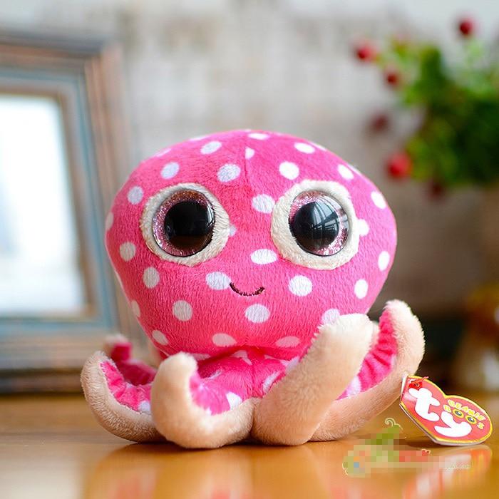 Funny Cartoon Ty Beanie Boos Big Eyes Mini 15cm Cute Pink