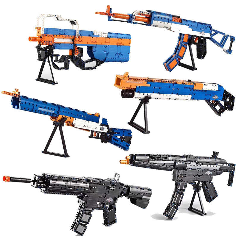Revolver Pistol Power GUN SWAT Military Army Model Legoes Building Blocks Brick Set Weapon PUBG Toys For Boys