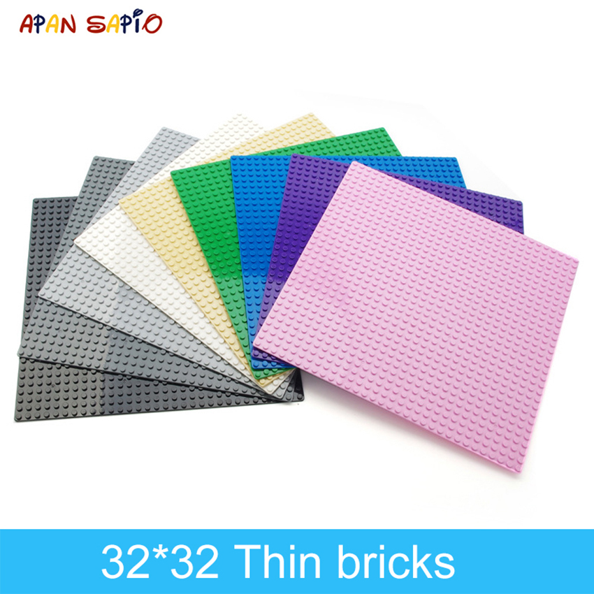 DIY Building Blocks Baseplate Figures Bricks 32x32 Dots 9 Colors Educational Creative Compatible With Brands Toys For Children