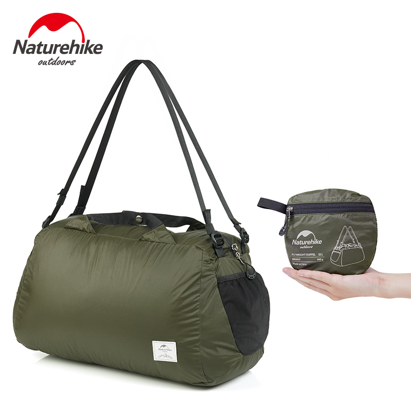 Naturehike Outdoor 20D Coating Silicone Duffel Bag Anti Tear Waterproof Travel Bags Unisex Stuff Sacks Ultralight Black 145g